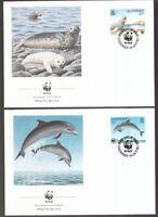 Guernsey 1990 FDC MiNr. 497-500  Weltweiter Naturschutz Meerestier
