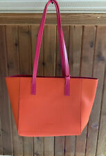 Tommy Bahama Reversible Tote Purse Pink Orange Beach Bag Removable Pouch New