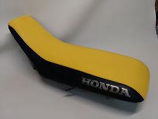 HONDA TRX250EX Seat Cover in 2-tone YELLOW & BLACK 2001-05  (HONDA SIDES)