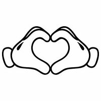 Mickey Disney hands Love Decal Vinyl Sticker Car Heart Wall Logo Disneyland