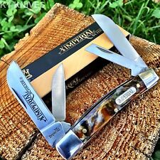 "Imperial Schrade Amber Swirl 3 1/2"" Medium Congress Pocket Knife New! IMP15CON"