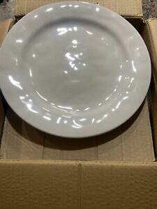 "JULISKA  - SET OF 4 11"" WHITEWASH DINNER PLATE SET. KS01/10 #6188"