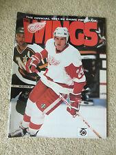 Feb 9,1992  Detroit Red Wings vs Toronto Maple Leafs Program Probert on Cover