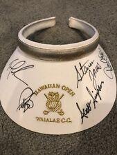 Tom Lehman/Scott Simpson/Steven Jones/Paul Azinger Autographed SunVisor