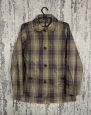 Women`s Barbour Tartan Derby Green Check Jacket Size 12