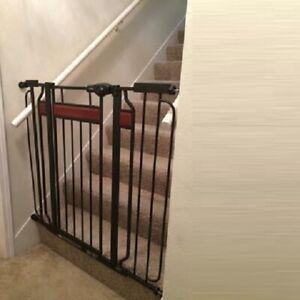 EXTRA TALL WALK Thru Safety Gate Baby Indoor Security Dog Pet Door Gates Fence