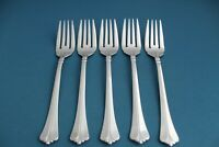 "5 Salad Forks Pfaltzgraff ELLINGTON GLOSSY 18/8 Stainless Indonesia 6 3/4"""