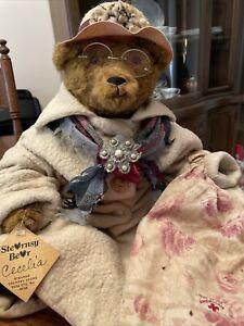 "Vtg STEARNSY BEAR Cecelia a lovely German immigrant 1990 Stearns 19"" Signed"