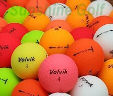 24 AAA Volvik Vivid Matte Assorted Color Used Golf Balls (3A) - FREE SHIPPING