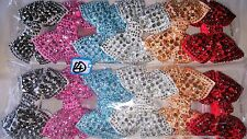 Joblot 12pcs  Mixed color Bow Sparkly hairclips hairgrips NEW wholesale lot 4