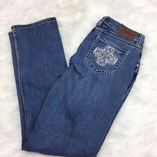 Adiktd 4 28 Women's Medium Wash Rhinestone Stitch Pocket Bootcut Denim Jeans