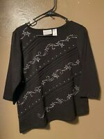 ALFRED DUNNER SHIRT WOMENS PETITE SIZE S