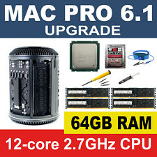 Apple Mac Pro 6.1 Late 2013 2.7GHz 12-Core CPU Processor+64GB RAM Memory Upgrade