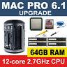 Apple Mac Pro 6.1 Late 2013 2.7GHz 12-Core CPU Processor+64GB RAM Memory Upgrade