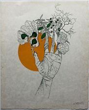 FELIX LABISSE (1905-1982) Lithographie originale Le Nostradame dim. 56 x 45 cm