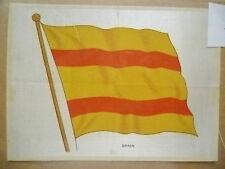 1930's SILK- B.D.V. CIGARETTES POSTCARD SIZE SILK FLAG- SPAIN (apx16X12cm)