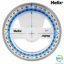360 Degree Angle Measure Clear School Exam Protractor 360° 10cm 100mm