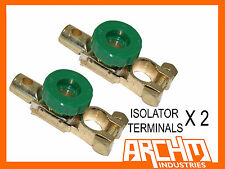 2x BATTERY ISOLATOR TERMINAL/CUT OFF/KILL SWITCH FOR DUAL/AGM/CTEK/REDARC SYSTEM