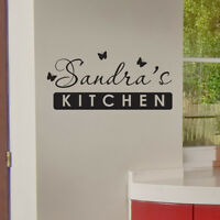 PERSONALISED KITCHEN WALL STICKER vinyl art decal quote w127
