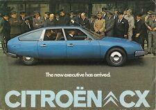 Citroen CX Saloon 1975 UK Market Launch Foldout Sales Brochure 2000 2200