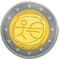 Luxembourg 2009 - 2 Euro Comm - 10yrs of the Euro (UNC)