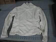 off white color womens polyester pullover micro fleece SMALL vermont snowflake