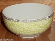 222 Fifth Python Lime Fine China/Porcelain Set of Four Soup Bowls ~ NIB