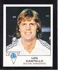 PANINI-CALCIO 80-n. 46 LEN CANTELLO-Bolton
