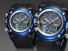OHSEN Dual Time Fasion Smart Blue Alarm Analog Digital Cool Mens Boy Sport Watch