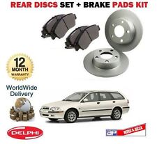 FOR VOLVO V40 1.6 1.7 1.8 1.9 2.0 1996-2004  NEW REAR BRAKE DISCS SET + PADS KIT