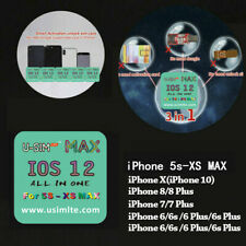 Usim LTE Max Unlock Turbo Card All in One for iPhone X/8/7/6 4G iOS 12 12.3 Lot
