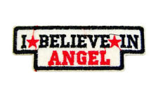 """Parche bordado mensaje CREO EN ANGEL """"I BELIEVE IN ANGEL"""" patch para ropas"""
