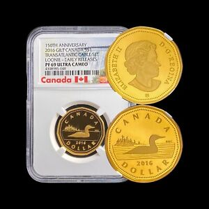 2016 Canada Dollar (Silver) - NGC PF69 UC - Gilt RARE