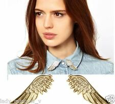New Design Gold Metal Angel Wings Collar Brooch Tip Pin Stylish Gift 1 pair top