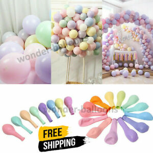 """Pack of 100 Pastel Latex Balloons Macaron Candy Many Colour Party 5''/10""""/12""""All"""