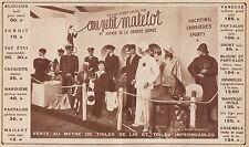 Y7132 Petit Matelot - Toiles de lin - Pubblicità d'epoca - 1935 Old advertising