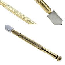 Diamond Antislip Metal Handle Steel Blade Oil Feed Glass Cutter Cutting Tool GS