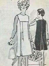 Vintage Uncut 60's Spadea Designer Pattern Size 16 Capucci Panel Tunic Dress