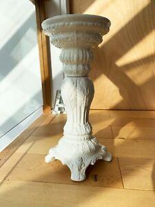 Vintage Italian Capodimonte White Porcelain Jardiniere Pedestal Column