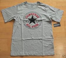 Magliette e maglie grigi manica corti per bambini dai 2 ai 16 anni logo