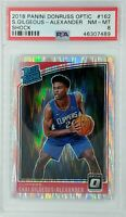 2018 Optic Rated Rookie Shock Prizm Shai Gilgeous-Alexander #162, Graded PSA 8