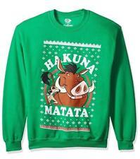 Disney's Lion King Hakuna Matata Christmas Sweater Sweatshirt Ugly Mens XL __S56