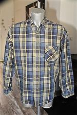 chemise bleue à carreaux cow boy western country MARLBORO CLASSICS taille XLARGE