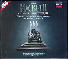 VERDI: MACBETH Leo NUCCI Shirley VERRETT Samuel RAMEY Riccardo CHAILLY 2CD 1987