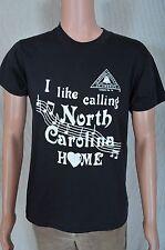 Vintage '80s I like calling North Carolina Home soft black telephone t shirt S