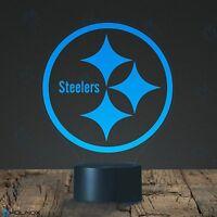 Holinox Football Steelers Logo Design Lamp 7 Color Display