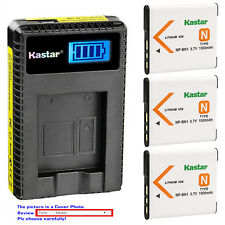 Kastar Battery LCD Charger for Sony NP-BN1 BC-CSN & Sony Cyber-shot DSC-W320