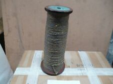 vintage wooden spool with yarn  bx46 110-0601