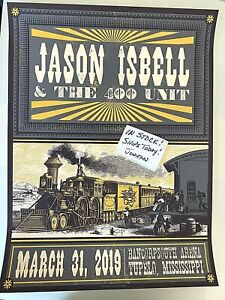 Jason Isbell Tupelo MS Official March 2019 Poster Signed & Numbered A/E S/N #/50