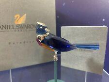 Swarovski Crystal Mint Figurine Paradise Birds Benua Dark Sapphire 284066 MIB W/